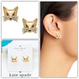 Kate Spade Fox Stud Pavé Earrings